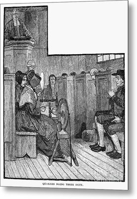 Quaker Meeting Metal Print by Granger