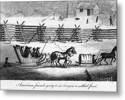 Quakers Going To Meeting Metal Print by Granger