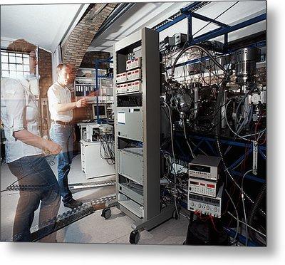 Quantum Entanglement Equipment Metal Print by Volker Steger