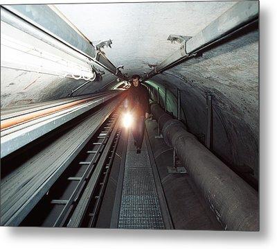 Quantum Entanglement Tunnel Metal Print by Volker Steger