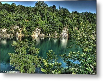 Quarry Of Reflections Metal Print by Heather  Boyd