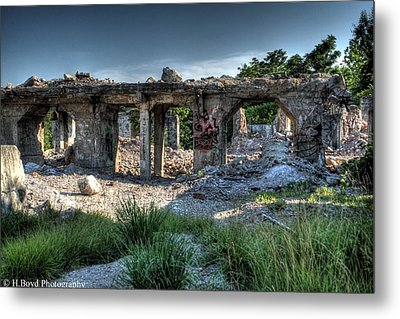 Quarry Ruins Metal Print by Heather  Boyd