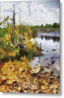 Metal Print featuring the painting Quarry View by Mario Carini
