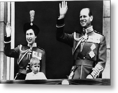 Queen Elizabeth II Back Left, The Queen Metal Print by Everett