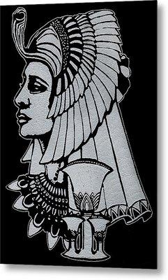 Queen Nefertiti Metal Print by Jim Ross