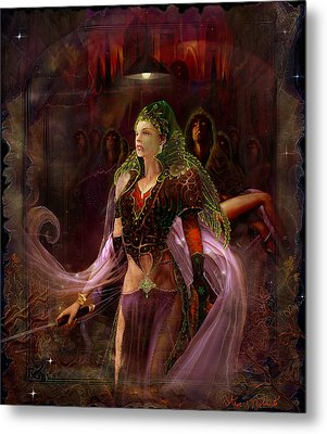 Metal Print featuring the painting Queen Of The Dead by Steve Roberts
