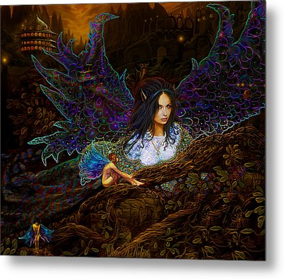Metal Print featuring the painting Queen Of The Fairies by Steve Roberts