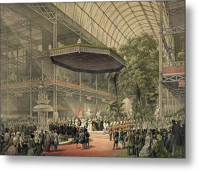 Queen Victoria Presides At The State Metal Print by Everett