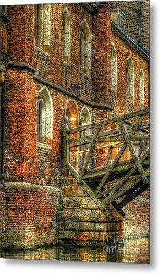 Queens' College And Mathematical Bridge Metal Print by Yhun Suarez
