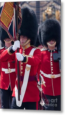 Queens Guards Metal Print