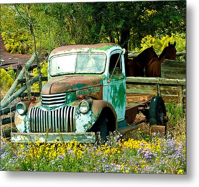 Metal Print featuring the photograph Questa Truck by Jim  Arnold