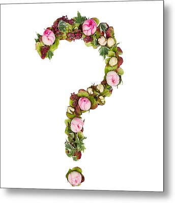 Question Mark Metal Print by PhotoStock-Israel