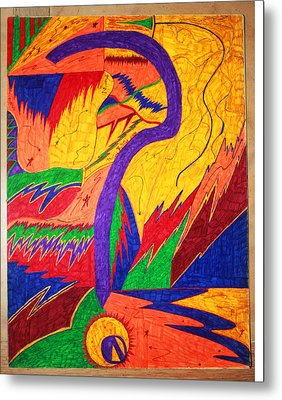 Questionable Direction Metal Print by Todd Breitling