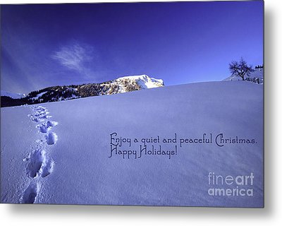 Quiet And Peaceful Christmas Metal Print by Sabine Jacobs
