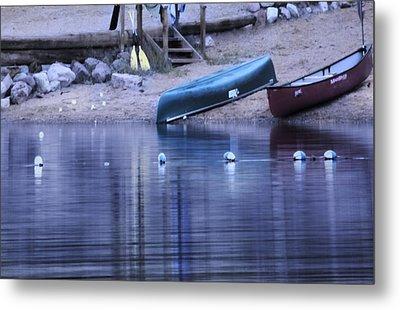 Quiet Canoes Metal Print