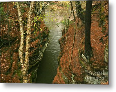 Quiet Rocky Gorge Metal Print by Joan McArthur