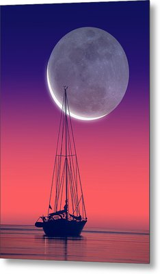 Quiet Sailboat Metal Print