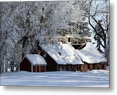 Quiet Snow Metal Print by Gary Gunderson