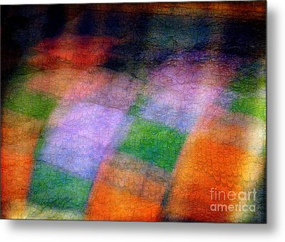 Quilt In The Cupboard Metal Print by Judi Bagwell