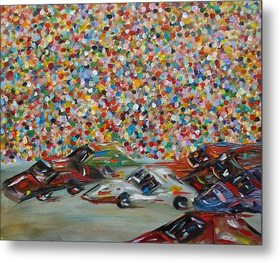 Metal Print featuring the painting Race Day by Judith Rhue