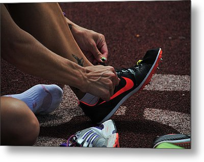 Race Preperations Metal Print by Mike Martin