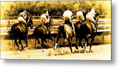 Metal Print featuring the photograph Race To The Finish Line by Alice Gipson
