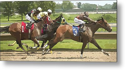 Metal Print featuring the photograph Racetrack Views by Alice Gipson