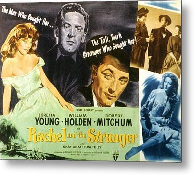 Rachel And The Stranger, Loretta Young Metal Print by Everett