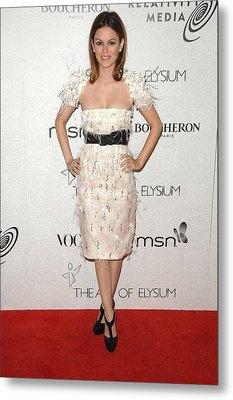 Rachel Bilson Wearing A Chanel Dress Metal Print by Everett