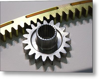 Rack And Pinion Metal Print by Mark Williamson