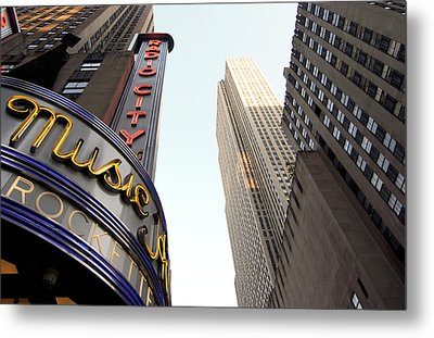 Metal Print featuring the photograph Radio City Music Hall by Michael Dorn