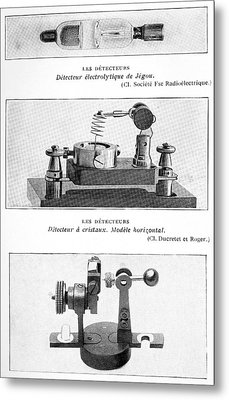 Radio Receiver Components, 1914 Metal Print by