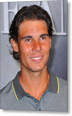 Rafael Nadal At In-store Appearance Metal Print by Everett