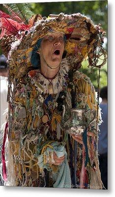 Rag Lady Begging Metal Print by Charles Warren