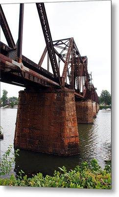 Metal Print featuring the photograph Railroad Bridge 1 by Kay Lovingood