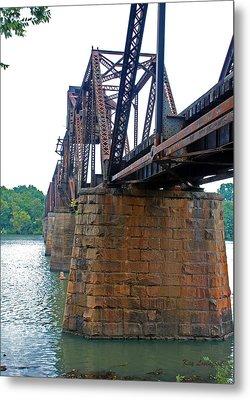 Metal Print featuring the photograph Railroad Bridge 2 by Kay Lovingood