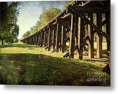 Railroad Bridge Metal Print by Tamyra Ayles