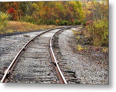 Railroad Fall Color Metal Print by Thomas R Fletcher