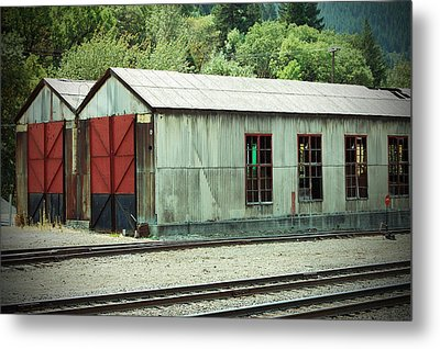Railroad Woodshed 2 Metal Print by Holly Blunkall