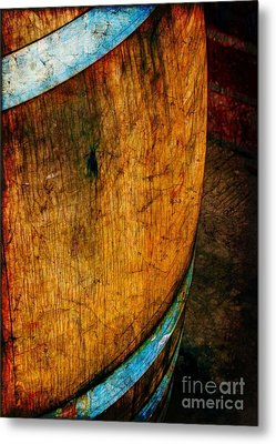 Rain Barrel Metal Print by Judi Bagwell
