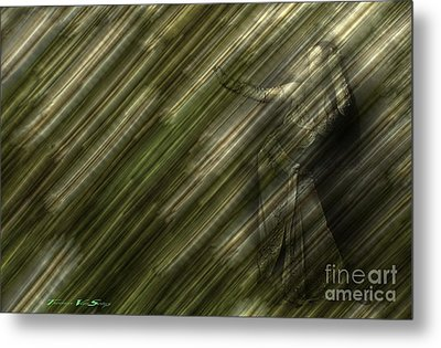 Rain Dances On The Rattan Cane Metal Print by The Stone Age
