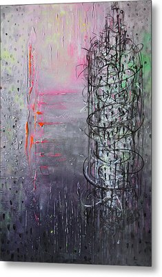 Rain In The Bird Cage Metal Print by Lolita Bronzini
