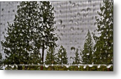 Rain On My Windowpane Metal Print by Kirsten Giving