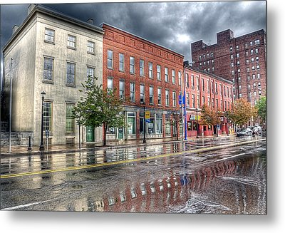 Rain Reflection Metal Print by Brian Fisher