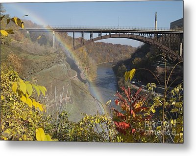 Metal Print featuring the photograph Rainbow At Lower Falls by William Norton