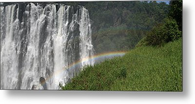 Metal Print featuring the photograph rainbow at Victoria falls by Andrei Fried