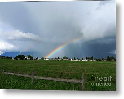 Metal Print featuring the photograph Rainbow Before The Storm by Nina Prommer