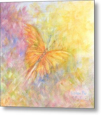 Rainbow Butterfly 3 Metal Print