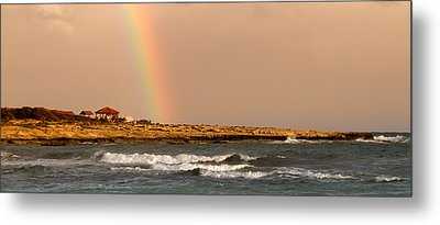 Rainbow By The Sea Metal Print by Stelios Kleanthous