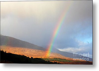 Rainbow In Scotland Metal Print by Holger Ostwald